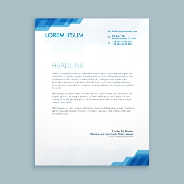 corporate letterhead presentation vector free download