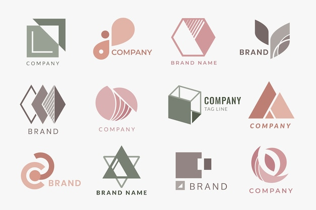 Corporate logo designs Free Vector