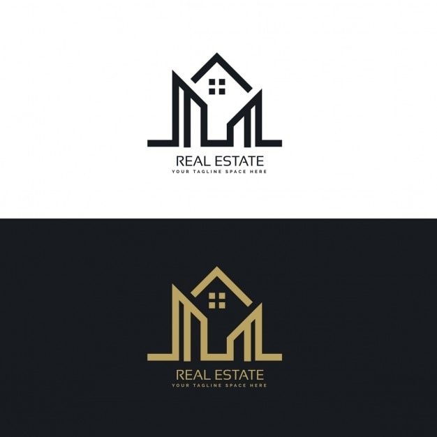 Corporate logo with geometric shapes Free Vector