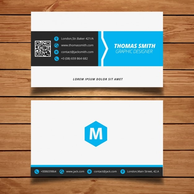 Corporate minimal black and blue business card template vector corporate minimal black and blue business card template free vector reheart Image collections