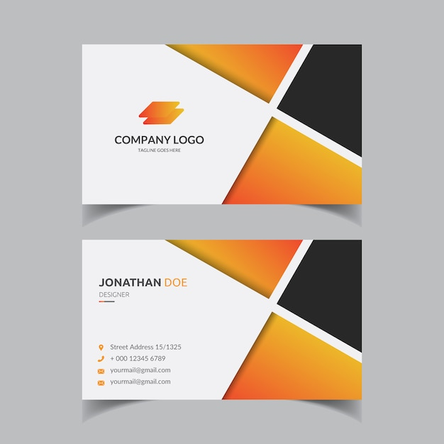 Corporate modern business card template Premium Vector