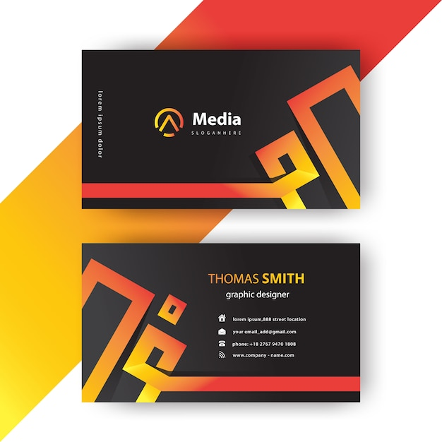 Corporate modern business card Free Vector