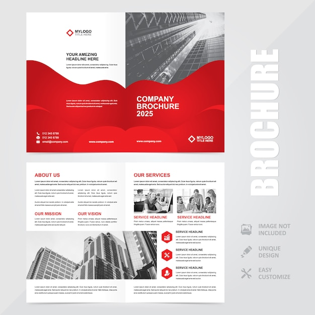 Corporate multipurpose a4 flyer brochure background template Premium Vector