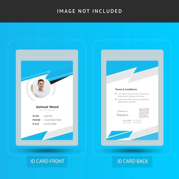 Corporate office employee id card template   Premium Vector