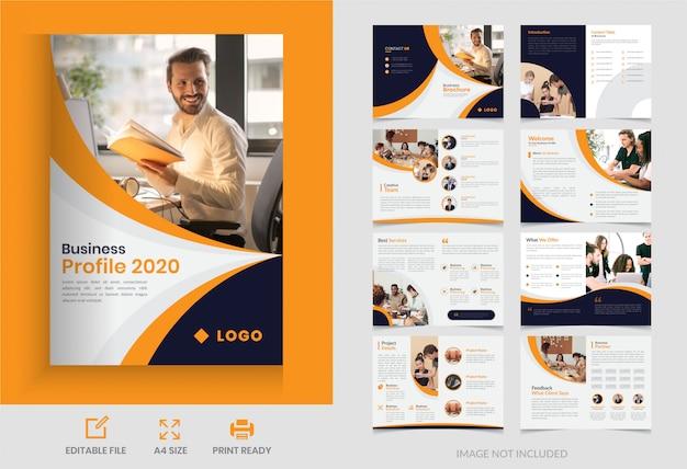 Corporate page business brochure  design Premium Vector