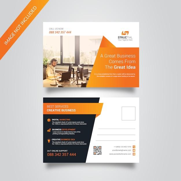 Corporate post card Premium Vector