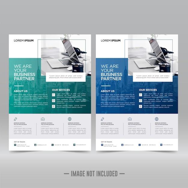 企業のポスター、チラシデザインテンプレート Premiumベクター