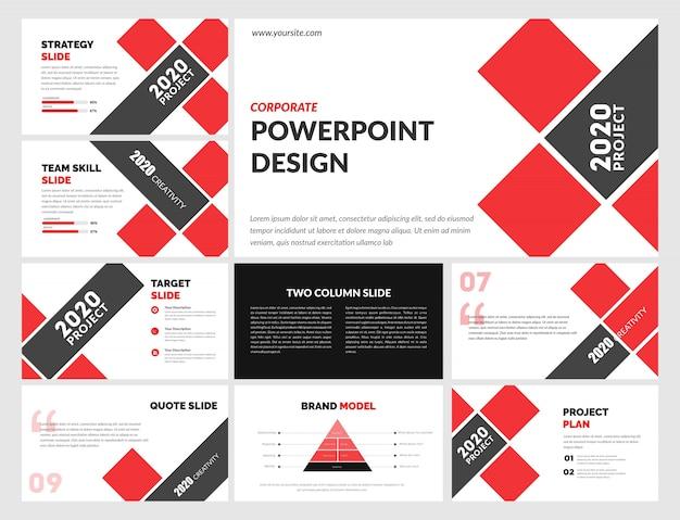 Корпоративный шаблон powerpoint Premium векторы