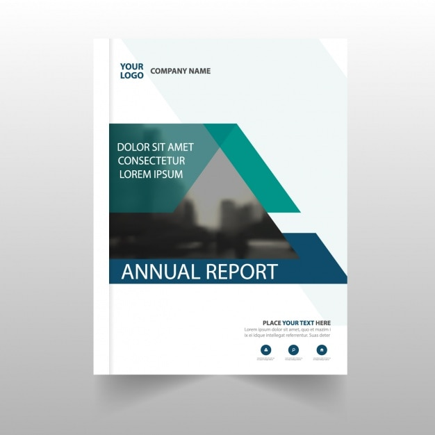 Corporate report template with abstract part Vector – Corporate Report Template