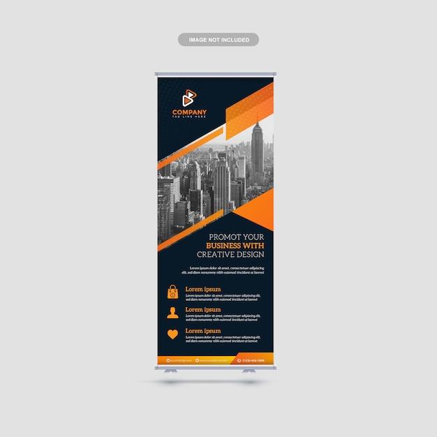 Corporate roll up banner Premium Vector