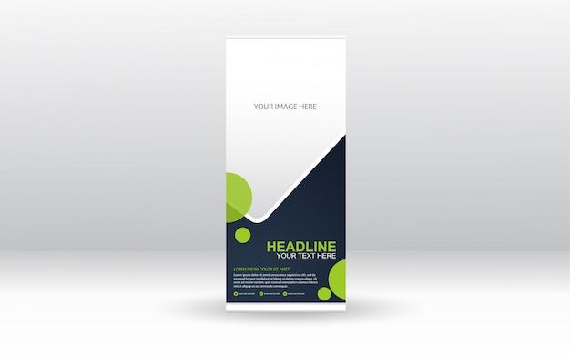 Corporate rollup xbanner template design Premium Vector