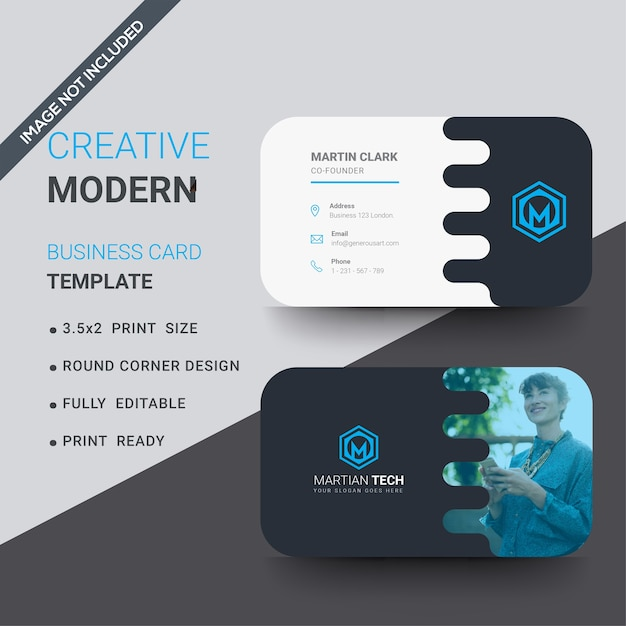 Corporate round corner business card template vector premium download corporate round corner business card template premium vector fbccfo Image collections