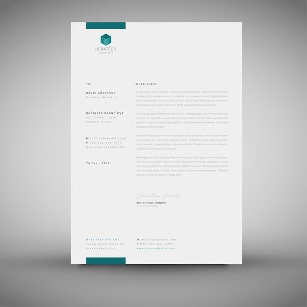 Eps Corporate Letterhead Template 000105: Corporate Simple Letterhead Template Vector