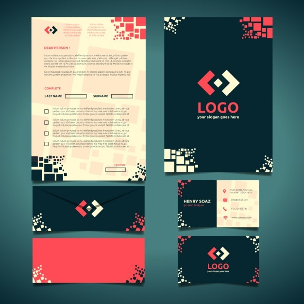 Corporate Stationery design Vector – Stationery Templates for Designers