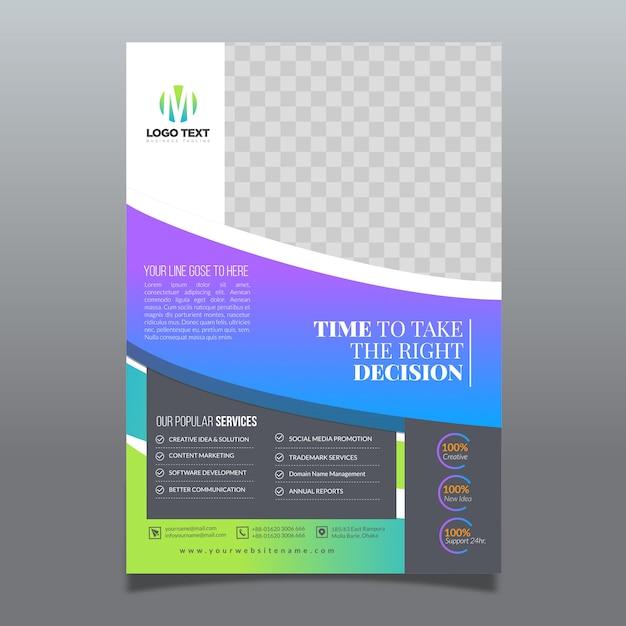Corporate stylish flyer template Vector | Premium Download