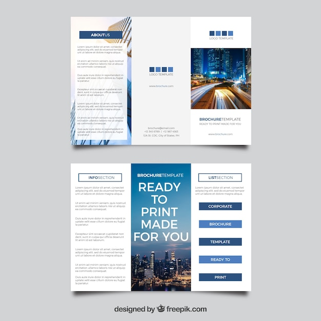 Corporate Trifold Brochure Template Vector Free Download