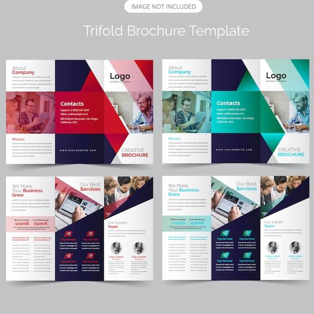 Corporate trifold brochure Premium Vector