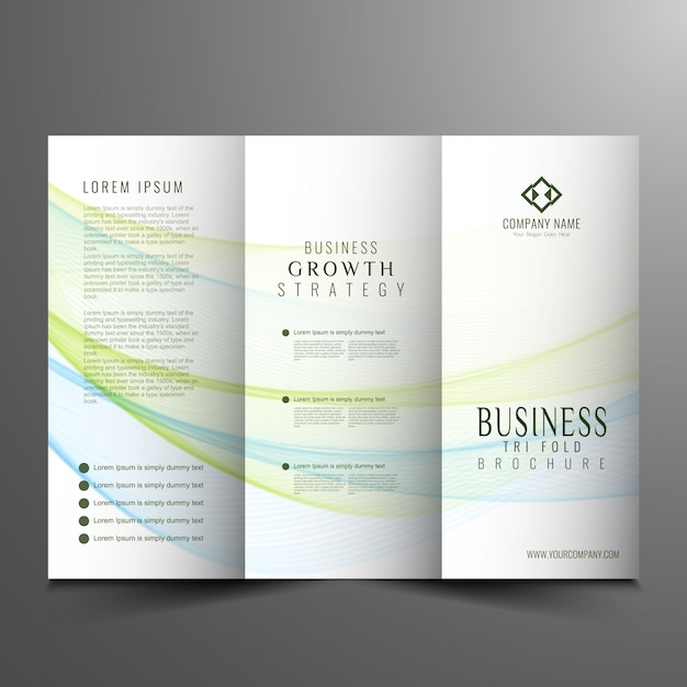 Corporate Trifold Business Brochure Design Vector  Free Download