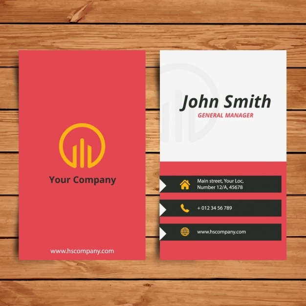 Corporate vertical business card Vector