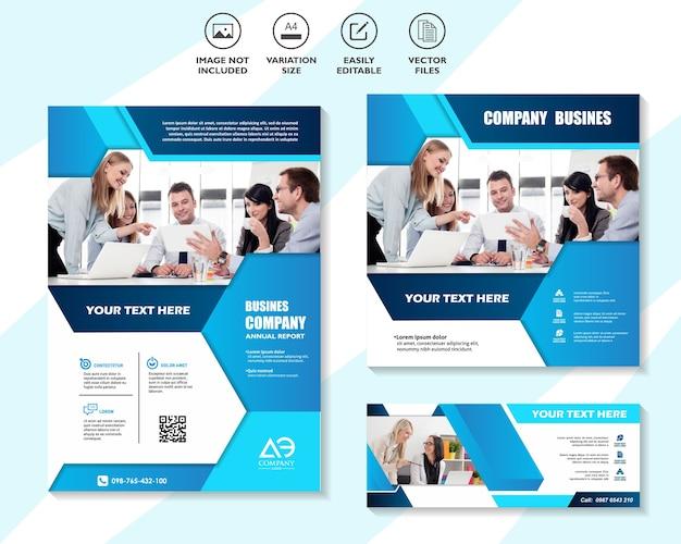 Набор шаблонов корпоративного веб-баннера Premium векторы