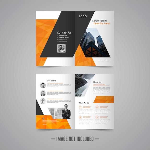 Corporative business brochure design template Premium Vector