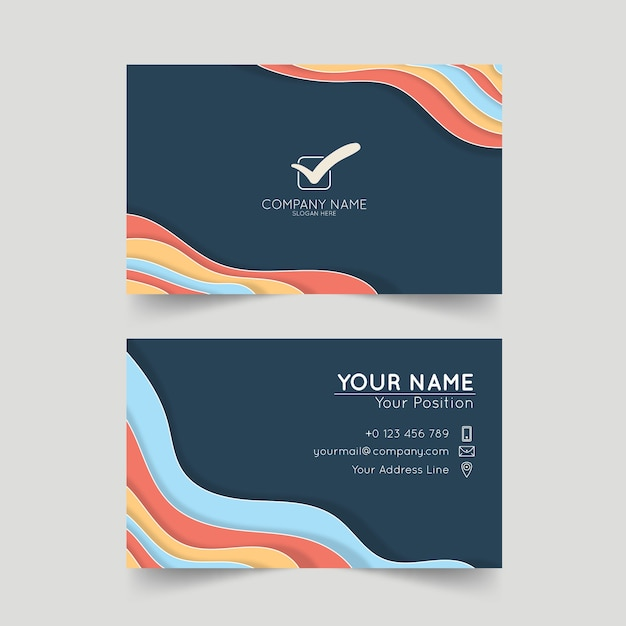 Corporative business card template Free Vector