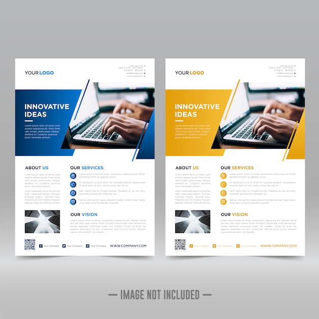 Corporative flyer design template Premium Vector