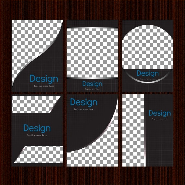 corporative folders templates collection vector free