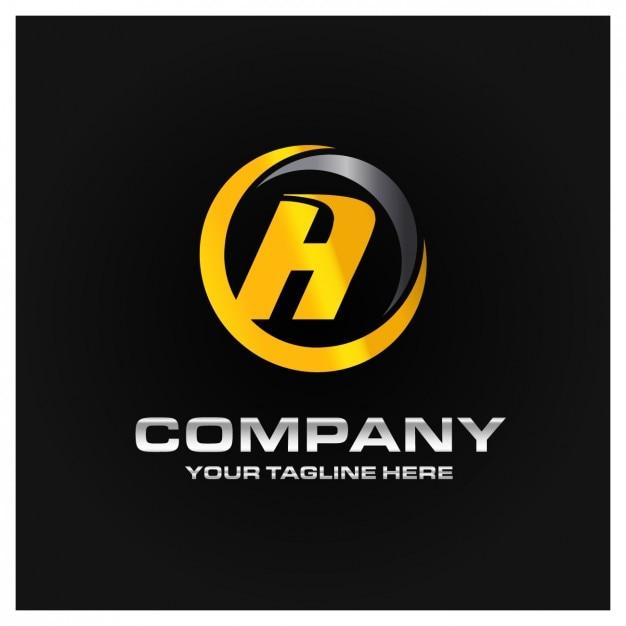 Corporative logo design Free Vector