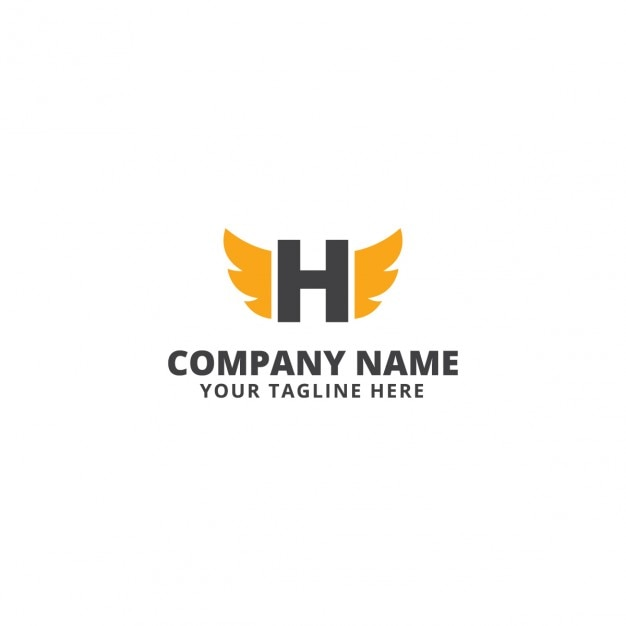 Corporative logo with wings