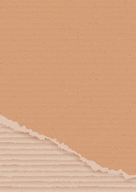 Corrugated cardboard background Premium Vector