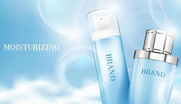 Cosmetic ad Premium Vector