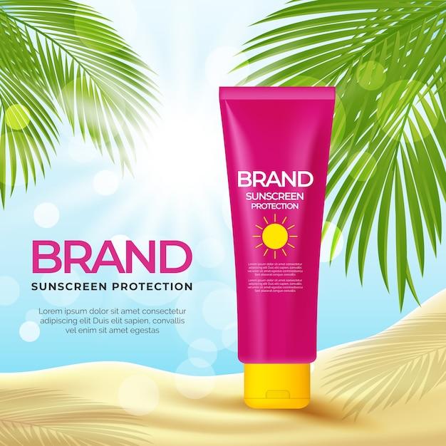 Cosmetic advertisement design Free Vector