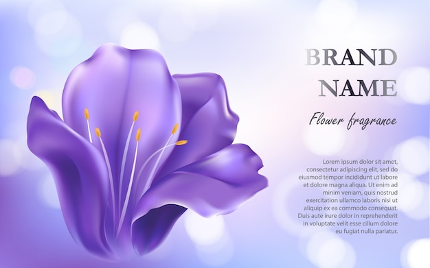 Cosmetic Background With A Purple Flower Vector Free Download
