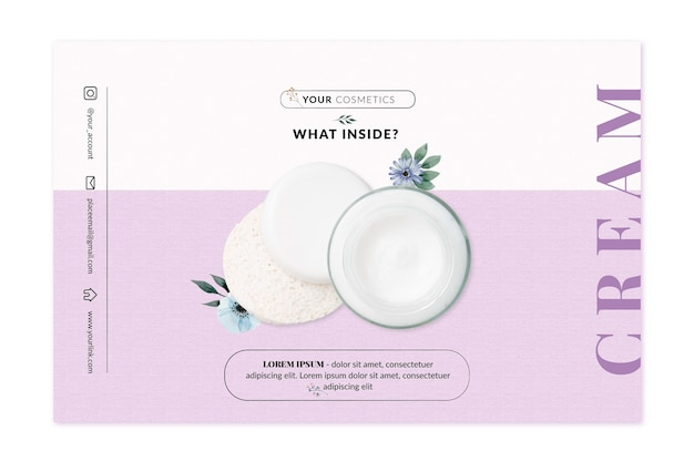 Cosmetic banner template Free Vector