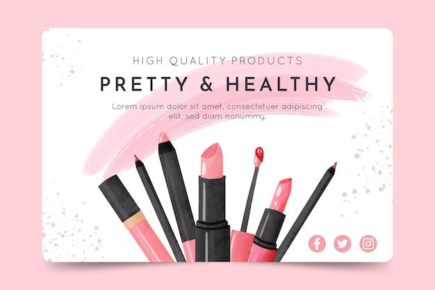 Modello di banner cosmetico Vettore gratuito