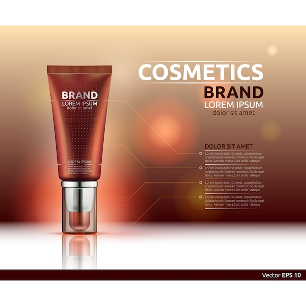 Cosmetic Brand Template Vector Free Download