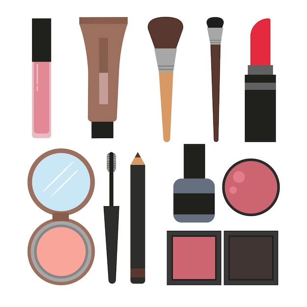 Cosmetic elements collection Free Vector