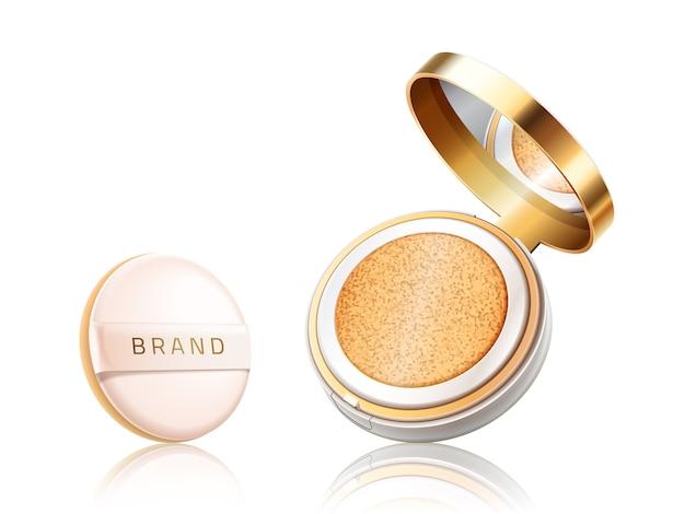 Cosmetic foundation case Premium Vector