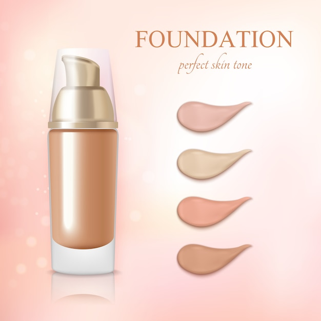 Cosmetic foundation concealer cream realistic Free Vector