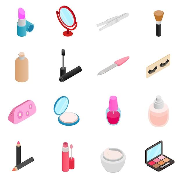 Cosmetic icons set Premium Vector