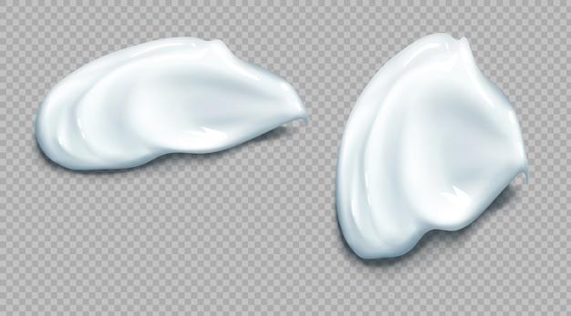 化粧品またはサワークリーム塗抹現実的なセット 無料ベクター