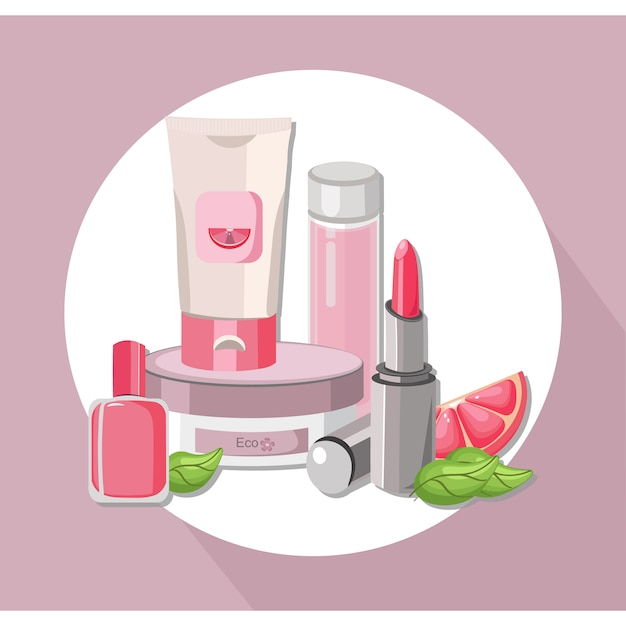 Cosmetic product background Free Vector