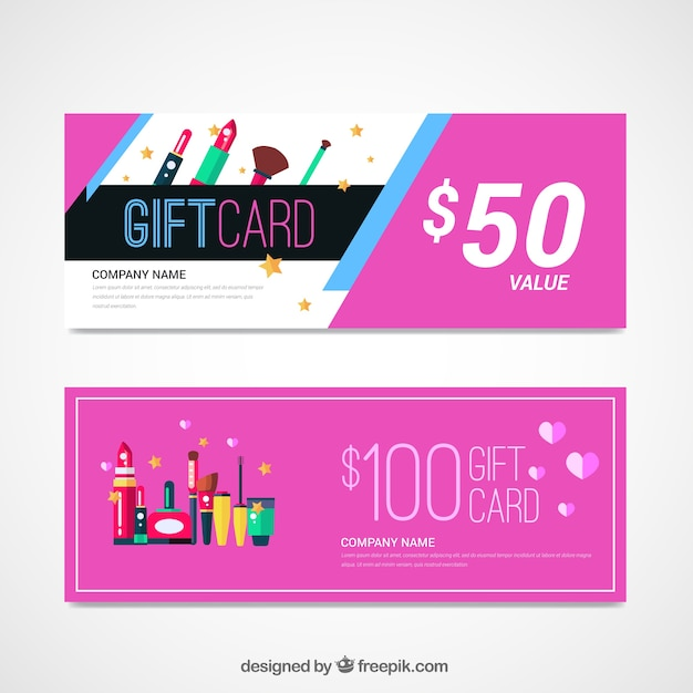 Cosmetic sale banners Free Vector