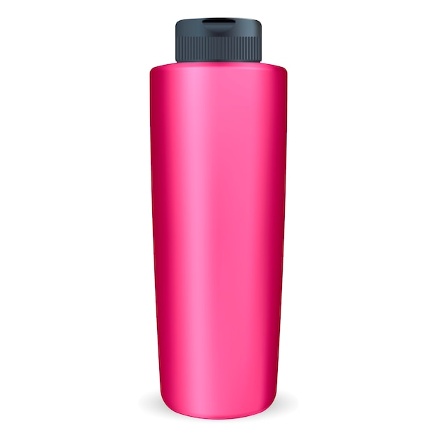 Cosmetic shampoo or shower gel bottle. Premium Vector