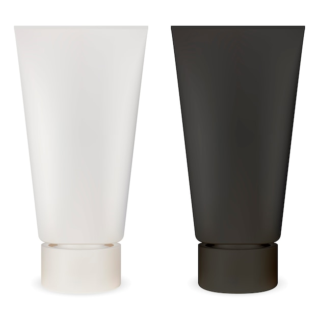 Cosmetic tube. plastic container mockup. lubricant Premium Vector