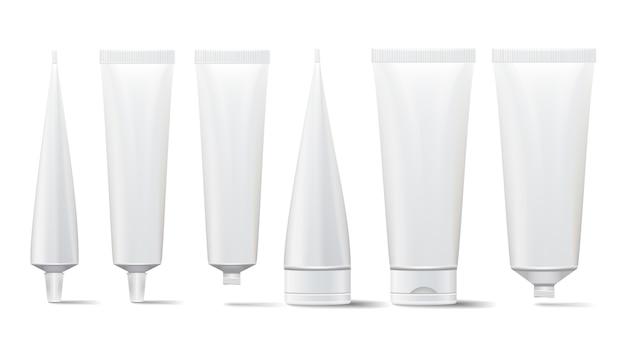 Cosmetic tube set Premium Vector