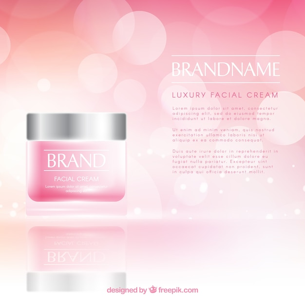 Cosmetics background with realistic style Free Vector