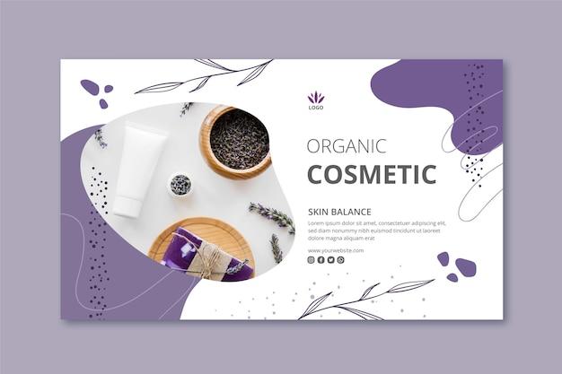 Modello di banner di cosmetici con foto Vettore gratuito