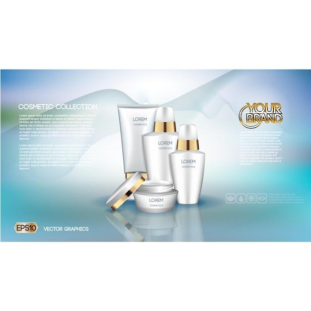 Cosmetics brochure template Free Vector